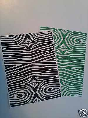 Black Zebra Pattern Vinyl For Small Craft Cutters Decal 1 Roll Of 12 X 3 Feet