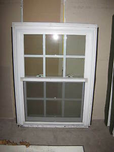 Vinyl replacement double hung window size 27 3 4 034 x 36 for Replacement window sizes