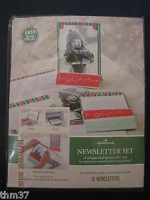Hallmark Newsletter Set Laser Print Your Own Newsletter Makes 18 Letters Pgx4466