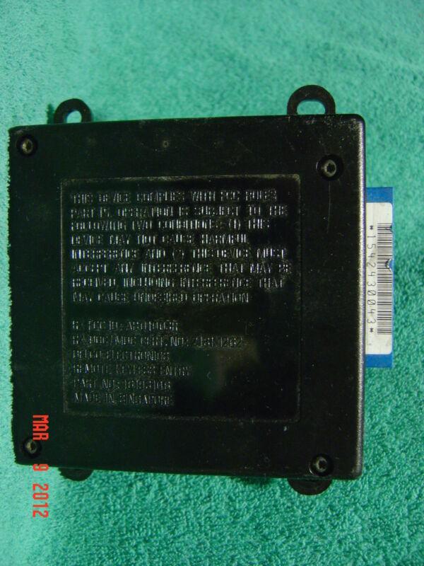 SHIPS SAME DAY! GM 16193106 Remote Keyless Entry Module Cadillac   60 DAY RETURN
