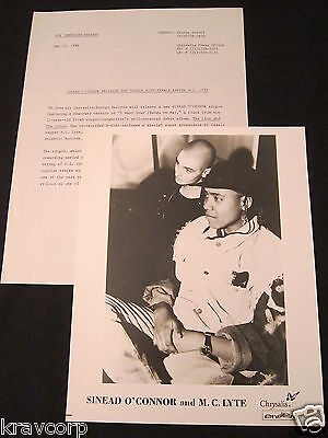 SINEAD O'CONNOR/M.C. LYTE 'I WANT YOUR (HANDS ON ME)' 1988 PRESS RELEASE W/PHOTO