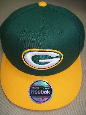 Green Bay Packers Premium Fitted Hat Cap Reebok 2-tone Nfl Team Apparel Gb S/m