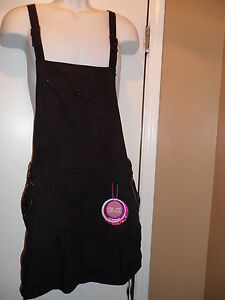 GLO-BLACK-BIB-OVERALL-SKIRT-SKIRTALL-DRESS-JNR-SZ-0-1-3-5-7-DRAWSTRING-SIDES-NWT