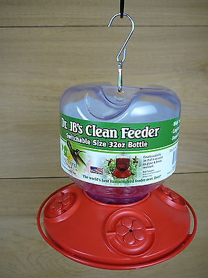 Dr. JB's Clean Hummingbird Feeder Switchable Sizing 32oz Red Songbird Essentials