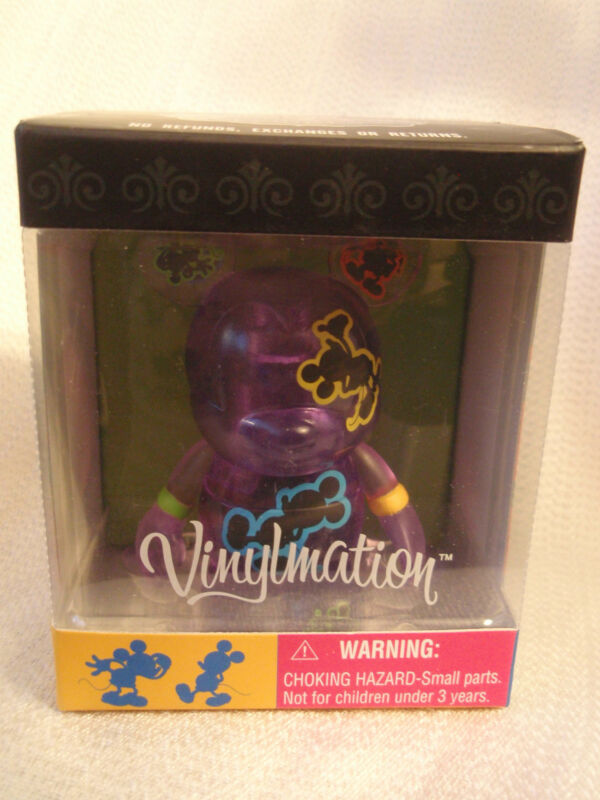 "Disney Vinylmation Oh Mickey Mouse Series PURPLE Clear Jumping 3"" + 1.5"" Figures"
