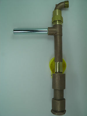 """1"""" COMMERCIAL QUALITY BRASS QUICK COUPLER VALVE , MATCHING KEY AND HOSE SWIVEL"""