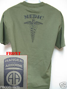 82ND-AIRBORNE-RANGER-T-SHIRT-MEDIC-COMBAT-ARMY-NEW