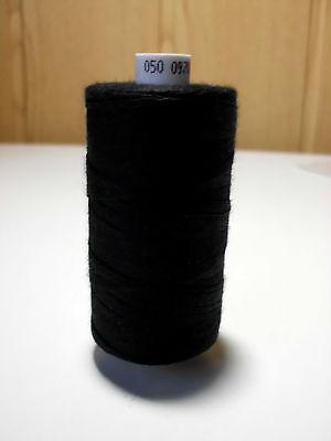 1 Rolle 500 m Nähgarn Stärke: 50  Farbe: Schwarz von Coats Epic           ( n99)