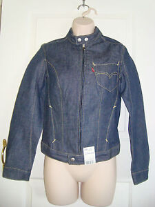 BNWT LEVI'S Zip-front Denim Biker Jacket (Size: XS - UK10/EUR38/USA6)