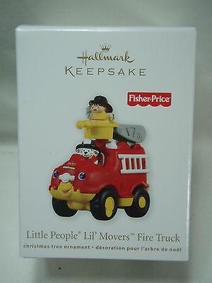 2011 Hallmark Keepsake Ornament Little People Lil Movers Fire Truck Fisher Price