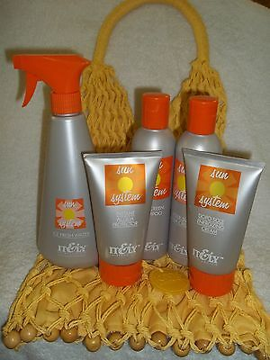 IT&LY SUN SYSTEM DEAL ~5 Piece Skin & Hair Care Products With Fashion Beach Bag!