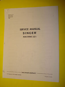 Shop-Repair-Service-Manual-for-Singer-FEATHERWEIGHT-221-222-Sewing-Machine