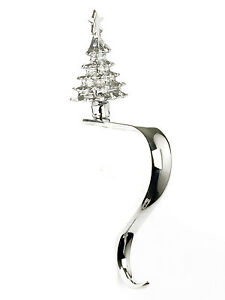 Polished Bright Chrome Christmas Tree Stocking Holder Pack of 2 SH007