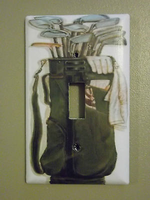 Golf Bag With Clubs Custom Light Switch Plate Cover
