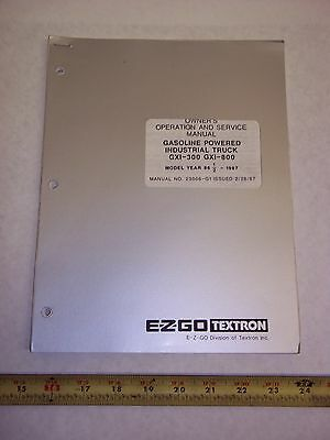Ez-go Service Manual Gas Industrial Truck Gxi-300 / 800