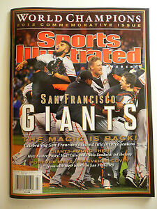 SAN FRANCISCO SF GIANTS 2012 CHAMPIONS COMMEMORATIVE SPORTS ILLUSTRATED MAGAZINE