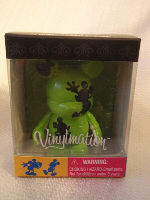"Disney Vinylmation Oh Mickey Mouse Series GREEN BLACK & WHITE 3"" + 1.5"" Figures"