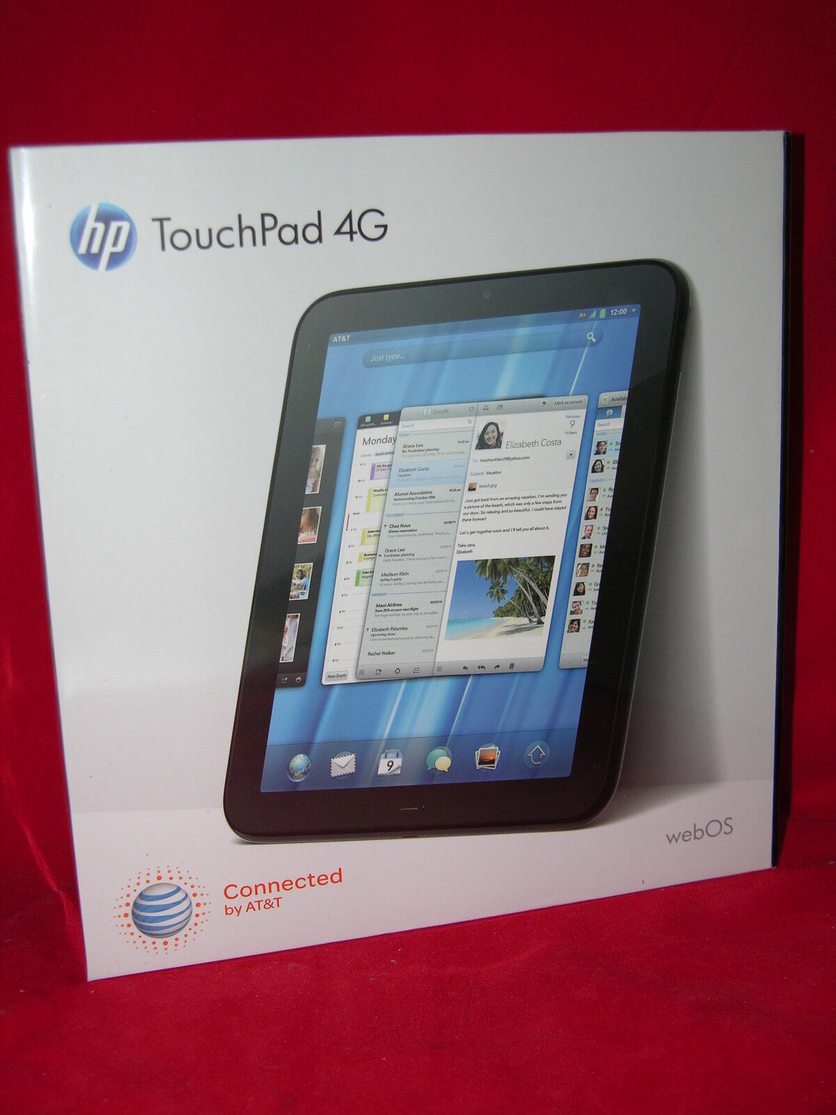 HP TouchPad 32GB 1.5 ghz ATT WiFi/unlocked code & Android 6.0.1 & Kodi installed
