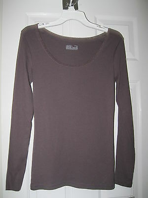 Ladies Brown Gillian & O'malley Top Size M