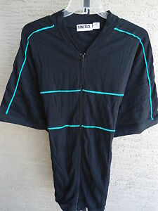 New mens king size big tall zip front banded bottom jersey for Mens 2xl tall shirts