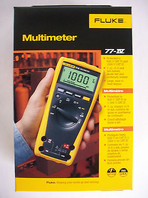 FLUKE Digital Multimeter 77-IV 77-4 1000V AC/DC Automotive Industrial NEW IN BOX on Rummage