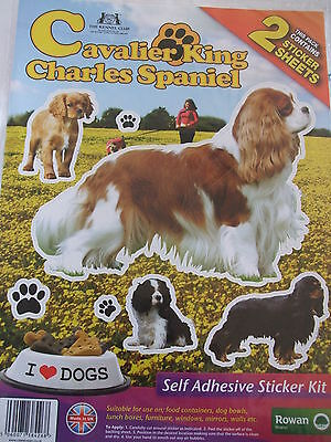 Stickers - Chien Cavalier King Charles - 2 Planches