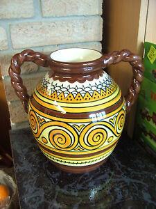 superbe vase boule en faience de quimper henriot vintage porcelain french vase ebay. Black Bedroom Furniture Sets. Home Design Ideas