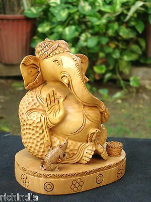 Ganesha Statue handicraft art gift home Decor india wooden handicraft sculpture