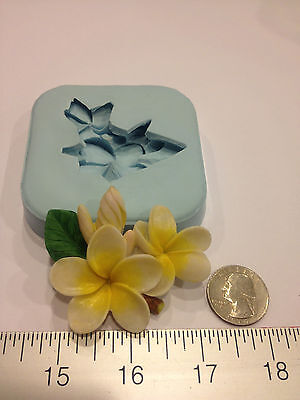 PLUMERIA HAWAII SILICONE MOLD SOAP, CANDLE, SUGARCRAFT, KIDS, WEDDING, FAVORS