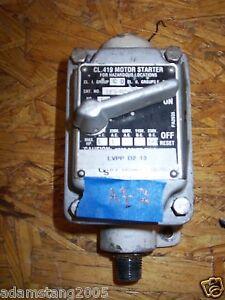 Oz gedney efs m2w 1 explosion proof manual motor starter for Explosion proof motor starter