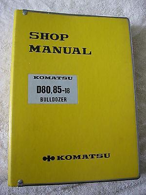 Komatsu D80  85 18 Bull Dozer Crawler Shop Service Manual