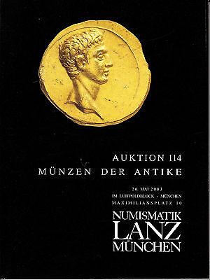 LANZ AUKTION 114 Katalog 2003 Kelten Griechen Römer Byzanz Völkerwanderung ~