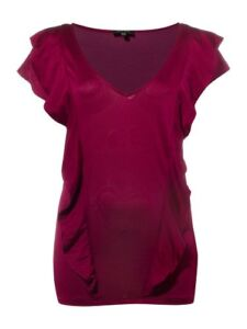 Pied A Terre Frill Front Silk Jersey Tee From House Of Fraser