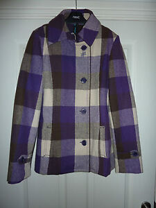 OXBOW-Purple-Checked-Jacket-NWT-RRP-120-BARGAIN-Size-10-14-LAST-2-LEFT