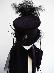 Ravens-tale-black-velvet-neo-Victorian-mourning-riding-hat