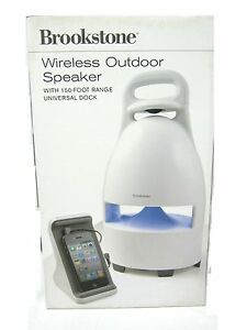 Brookstone-Wireless-Outdoor-Speaker-with-150-Foot-Range-with-Universal-Dock