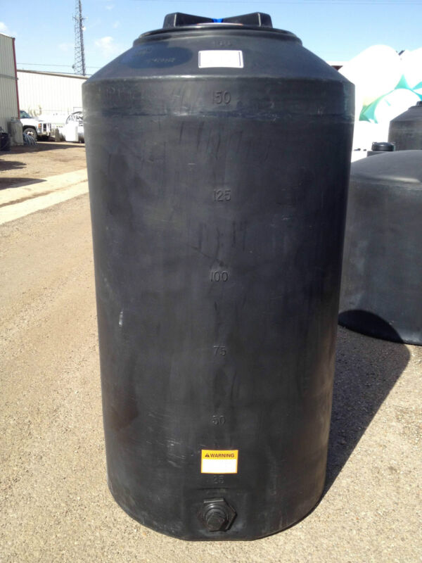 165 Gallon Black Poly Rain Water Harvesting Collecting Tank  Norwesco