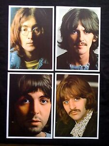 THE BEATLES White Album Set of 4 Posters Photos 68'