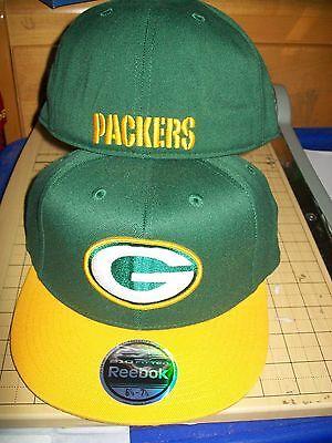 Green Bay Packers Premium Fitted Hat Cap Lid Reebok 2-tone Nfl Team Apparel L/xl