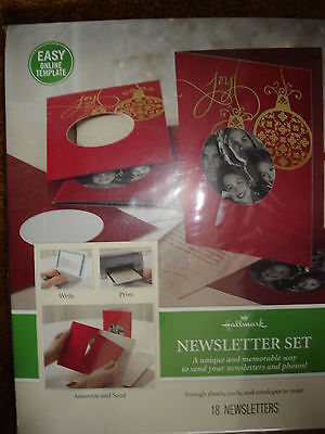 Hallmark Newsletter Set Memorable Way To Send Newsletters And Photos Red Card