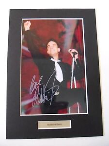 Robbie Williams signed autograph mounted photo