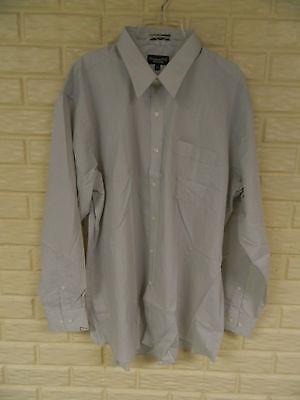 Men's 2xl Xxl Tri-mountain Tiny Checked Tan Shirt L/s Button Down Collar