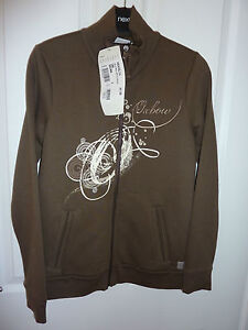 Gorgeous-OXBOW-Brown-Adelya-Zipped-Sweat-Jacket-RRP-55-NWT-PRICE-REDUCTION