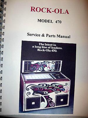 Rock-ola Model 470 Service & Parts Jukebox Manual
