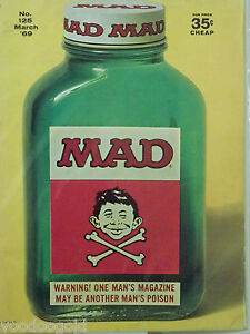 MAD Magazine #125 - March 1969 - Poison Cover