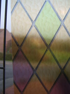 RED GREEN STAINED COLOURED GLASS STICKY BACK PLASTIC SELF ADHESIVE VINYL FILM