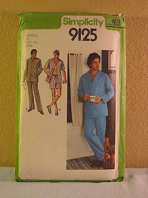 Vintage 1979 Simplicity 9125- Men's Pajamas - Medium B (38-40)