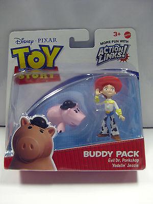 Toy Story Action Links Buddy Pack Evil Dr. Porkchop And Yodelin' Jessie Mattel