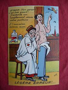 cpa carte postale ancienne humoristique bidasse toubib medecin avion ww2 may 39 r ebay. Black Bedroom Furniture Sets. Home Design Ideas