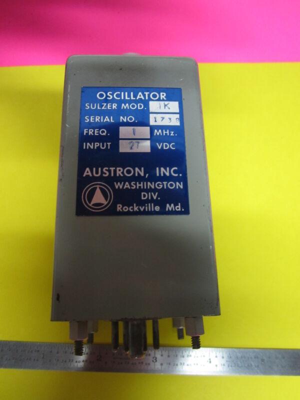 SULZER AUSTRON 1 MHz FREQUENCY STANDARD QUARTZ OSCILLATOR